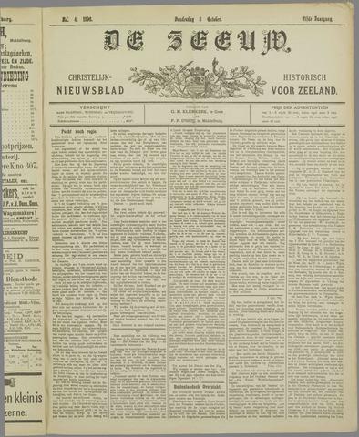 De Zeeuw. Christelijk-historisch nieuwsblad voor Zeeland 1896-10-08
