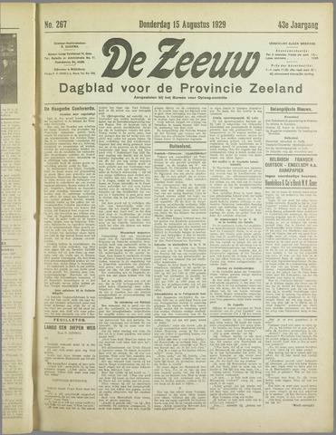 De Zeeuw. Christelijk-historisch nieuwsblad voor Zeeland 1929-08-15
