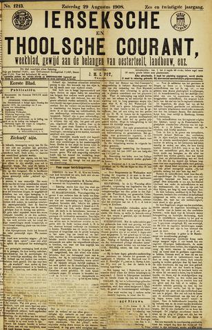 Ierseksche en Thoolsche Courant 1908-08-29