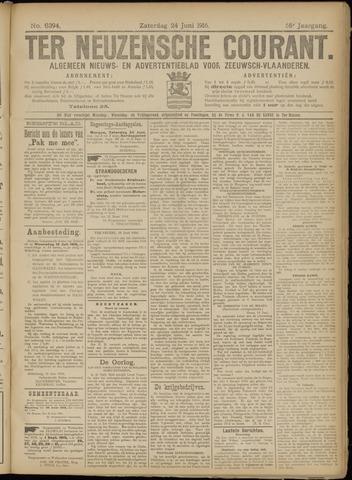 Ter Neuzensche Courant. Algemeen Nieuws- en Advertentieblad voor Zeeuwsch-Vlaanderen / Neuzensche Courant ... (idem) / (Algemeen) nieuws en advertentieblad voor Zeeuwsch-Vlaanderen 1916-06-24