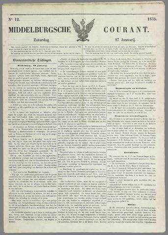 Middelburgsche Courant 1855-01-27