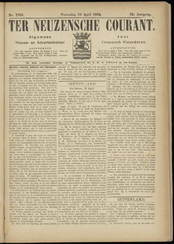 Ter Neuzensche Courant. Algemeen Nieuws- en Advertentieblad voor Zeeuwsch-Vlaanderen / Neuzensche Courant ... (idem) / (Algemeen) nieuws en advertentieblad voor Zeeuwsch-Vlaanderen 1882-04-19