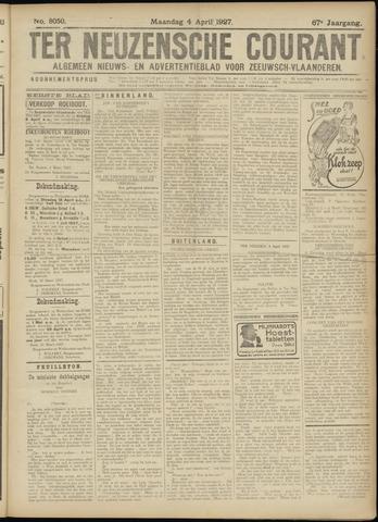 Ter Neuzensche Courant. Algemeen Nieuws- en Advertentieblad voor Zeeuwsch-Vlaanderen / Neuzensche Courant ... (idem) / (Algemeen) nieuws en advertentieblad voor Zeeuwsch-Vlaanderen 1927-04-04