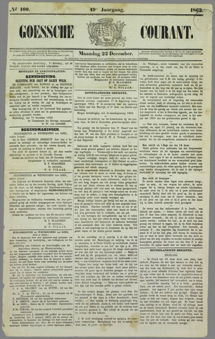 Goessche Courant 1862-12-22