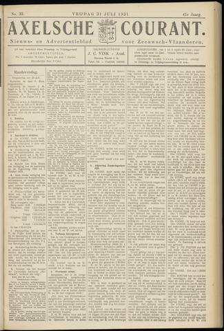 Axelsche Courant 1931-07-31