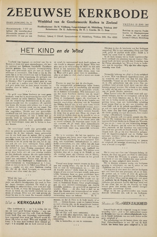 Zeeuwsche kerkbode, weekblad gewijd aan de belangen der gereformeerde kerken/ Zeeuwsch kerkblad 1951-06-22