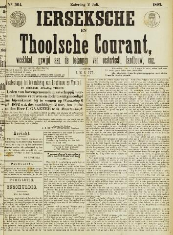 Ierseksche en Thoolsche Courant 1892-07-02