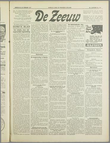 De Zeeuw. Christelijk-historisch nieuwsblad voor Zeeland 1937-02-25