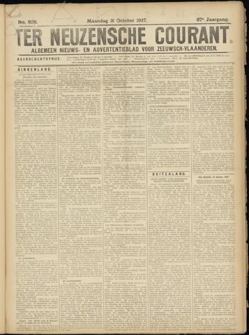 Ter Neuzensche Courant. Algemeen Nieuws- en Advertentieblad voor Zeeuwsch-Vlaanderen / Neuzensche Courant ... (idem) / (Algemeen) nieuws en advertentieblad voor Zeeuwsch-Vlaanderen 1927-10-31