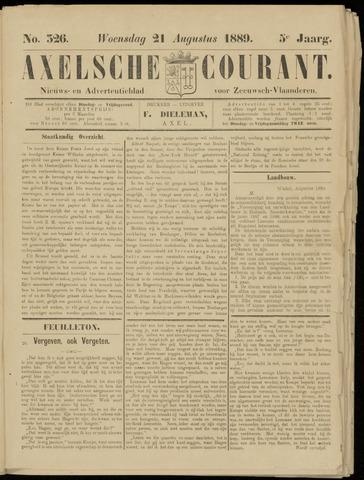 Axelsche Courant 1889-08-21