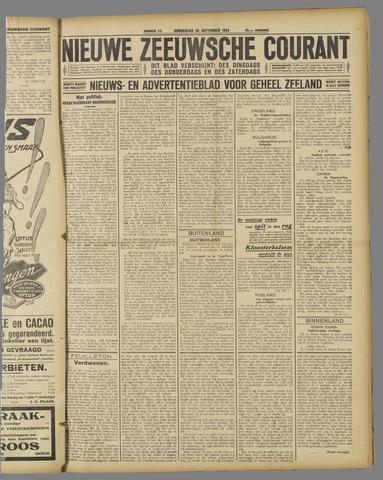 Nieuwe Zeeuwsche Courant 1924-09-25