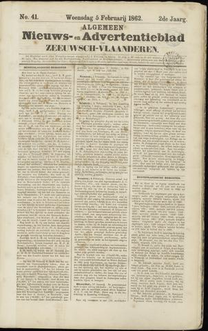 Ter Neuzensche Courant. Algemeen Nieuws- en Advertentieblad voor Zeeuwsch-Vlaanderen / Neuzensche Courant ... (idem) / (Algemeen) nieuws en advertentieblad voor Zeeuwsch-Vlaanderen 1862-02-05