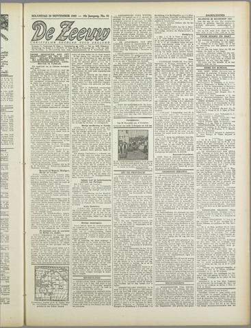 De Zeeuw. Christelijk-historisch nieuwsblad voor Zeeland 1943-11-29
