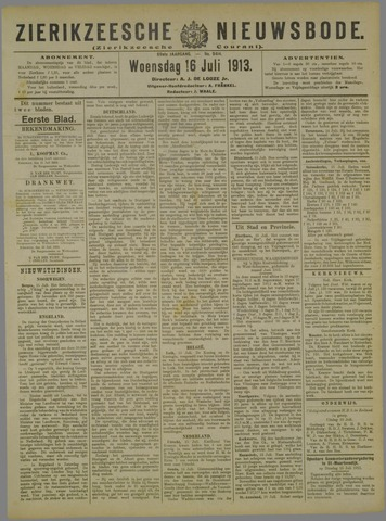 Zierikzeesche Nieuwsbode 1913-07-16