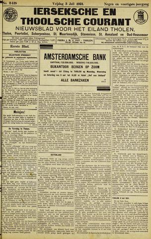 Ierseksche en Thoolsche Courant 1931-07-03