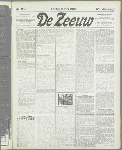 De Zeeuw. Christelijk-historisch nieuwsblad voor Zeeland 1924-05-02