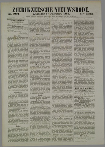 Zierikzeesche Nieuwsbode 1885-02-17