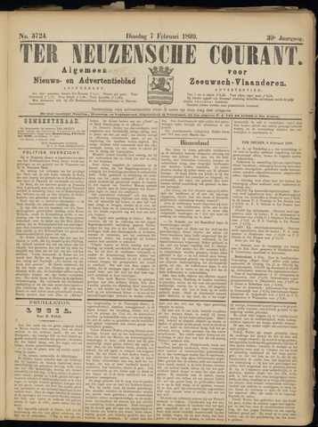Ter Neuzensche Courant. Algemeen Nieuws- en Advertentieblad voor Zeeuwsch-Vlaanderen / Neuzensche Courant ... (idem) / (Algemeen) nieuws en advertentieblad voor Zeeuwsch-Vlaanderen 1899-02-07