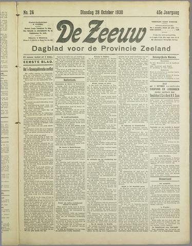 De Zeeuw. Christelijk-historisch nieuwsblad voor Zeeland 1930-10-28