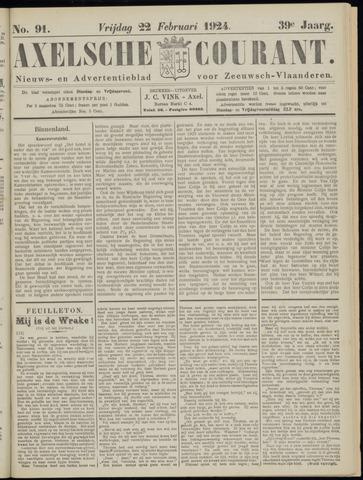 Axelsche Courant 1924-02-22