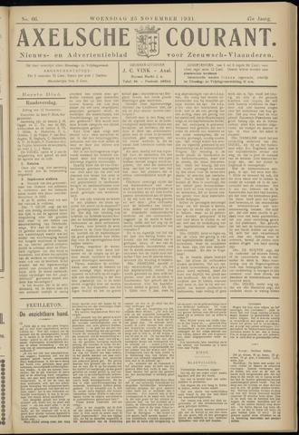 Axelsche Courant 1931-11-25