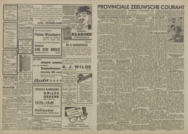 Provinciale Zeeuwse Courant 1942-12-14