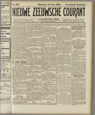 Nieuwe Zeeuwsche Courant 1918-10-01