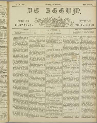 De Zeeuw. Christelijk-historisch nieuwsblad voor Zeeland 1896-11-26