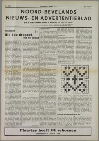 Noord-Bevelands Nieuws- en advertentieblad 1973-02-01
