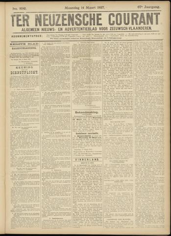 Ter Neuzensche Courant. Algemeen Nieuws- en Advertentieblad voor Zeeuwsch-Vlaanderen / Neuzensche Courant ... (idem) / (Algemeen) nieuws en advertentieblad voor Zeeuwsch-Vlaanderen 1927-03-14