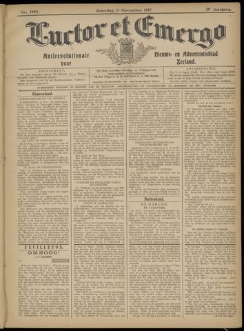 Luctor et Emergo. Antirevolutionair nieuws- en advertentieblad voor Zeeland / Zeeuwsch-Vlaanderen. Orgaan ter verspreiding van de christelijke beginselen in Zeeuwsch-Vlaanderen 1917-11-17