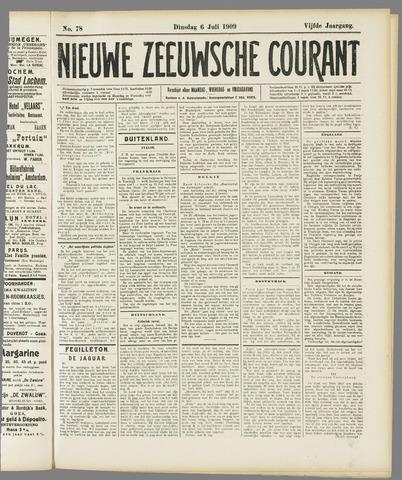 Nieuwe Zeeuwsche Courant 1909-07-06