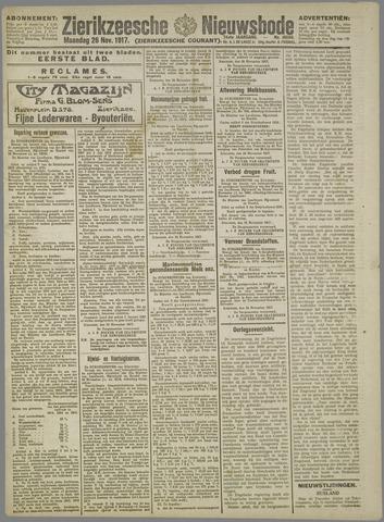 Zierikzeesche Nieuwsbode 1917-11-26