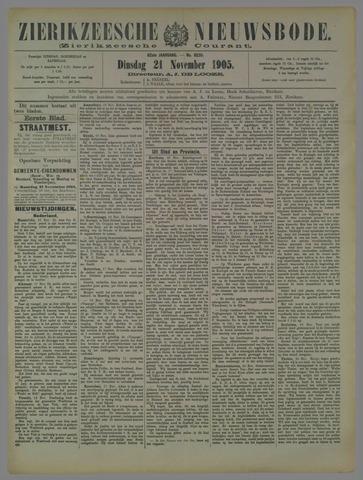 Zierikzeesche Nieuwsbode 1905-11-21