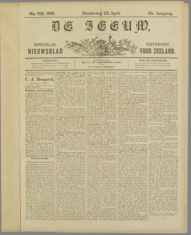 De Zeeuw. Christelijk-historisch nieuwsblad voor Zeeland 1901-04-25