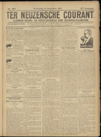 Ter Neuzensche Courant. Algemeen Nieuws- en Advertentieblad voor Zeeuwsch-Vlaanderen / Neuzensche Courant ... (idem) / (Algemeen) nieuws en advertentieblad voor Zeeuwsch-Vlaanderen 1927-09-28