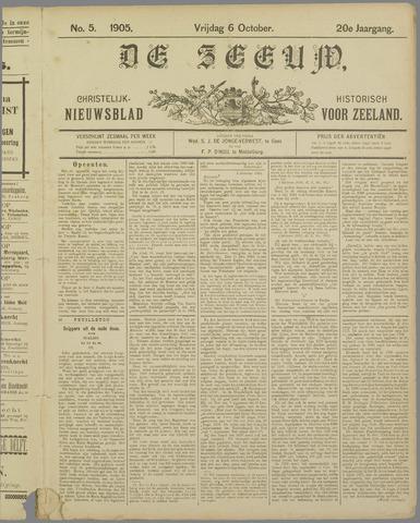 De Zeeuw. Christelijk-historisch nieuwsblad voor Zeeland 1905-10-06