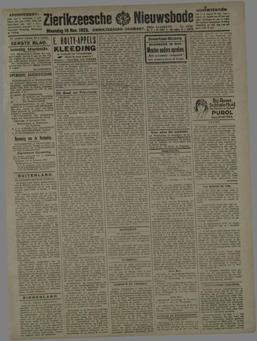 Zierikzeesche Nieuwsbode 1925-11-16
