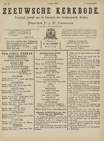 Zeeuwsche kerkbode, weekblad gewijd aan de belangen der gereformeerde kerken/ Zeeuwsch kerkblad 1888-05-05