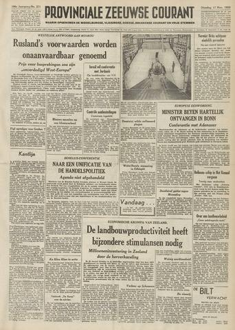 Provinciale Zeeuwse Courant 1953-11-17