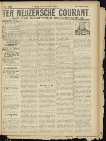Ter Neuzensche Courant. Algemeen Nieuws- en Advertentieblad voor Zeeuwsch-Vlaanderen / Neuzensche Courant ... (idem) / (Algemeen) nieuws en advertentieblad voor Zeeuwsch-Vlaanderen 1923-11-23