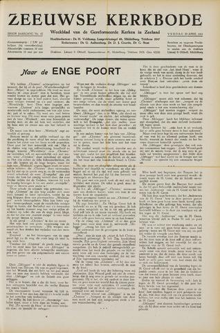 Zeeuwsche kerkbode, weekblad gewijd aan de belangen der gereformeerde kerken/ Zeeuwsch kerkblad 1951-04-20
