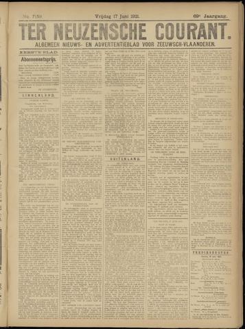 Ter Neuzensche Courant. Algemeen Nieuws- en Advertentieblad voor Zeeuwsch-Vlaanderen / Neuzensche Courant ... (idem) / (Algemeen) nieuws en advertentieblad voor Zeeuwsch-Vlaanderen 1921-06-17