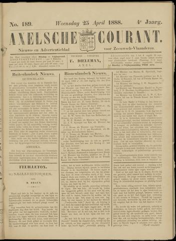 Axelsche Courant 1888-04-25