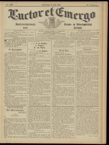 Luctor et Emergo. Antirevolutionair nieuws- en advertentieblad voor Zeeland / Zeeuwsch-Vlaanderen. Orgaan ter verspreiding van de christelijke beginselen in Zeeuwsch-Vlaanderen 1915-07-17