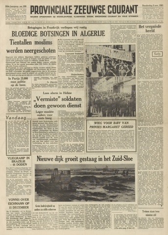 Provinciale Zeeuwse Courant 1961-11-02