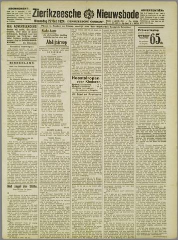 Zierikzeesche Nieuwsbode 1924-10-22