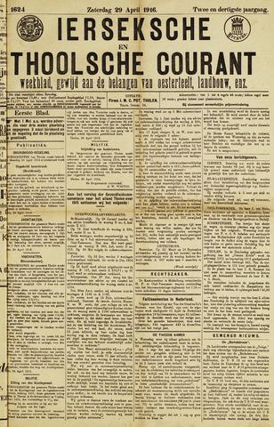 Ierseksche en Thoolsche Courant 1916-04-29