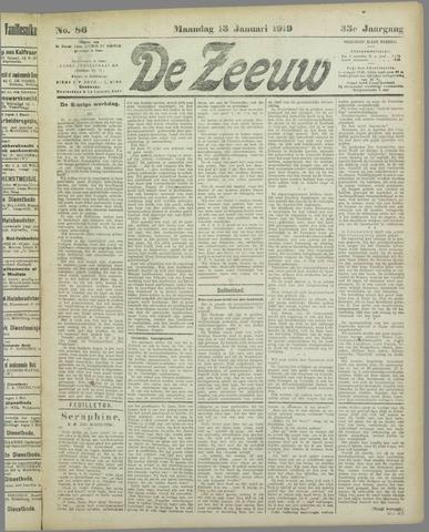 De Zeeuw. Christelijk-historisch nieuwsblad voor Zeeland 1919-01-13