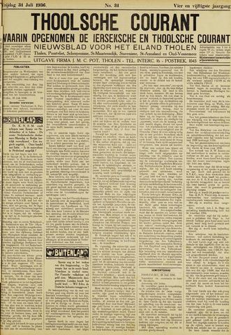 Ierseksche en Thoolsche Courant 1936-07-31